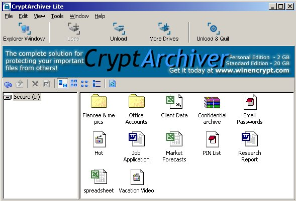 CryptArchiver Encryption Software - Hide  Encrypt Important Files and Folders.